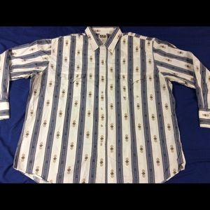 Ely Cattleman Western Shirt Pearl Snap Size 2XL